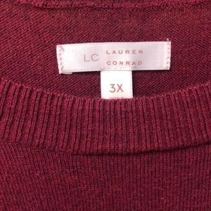 LC Lauren Conrad Sweaters - LC Lauren Conrad Burgundy Sweater Size 3x